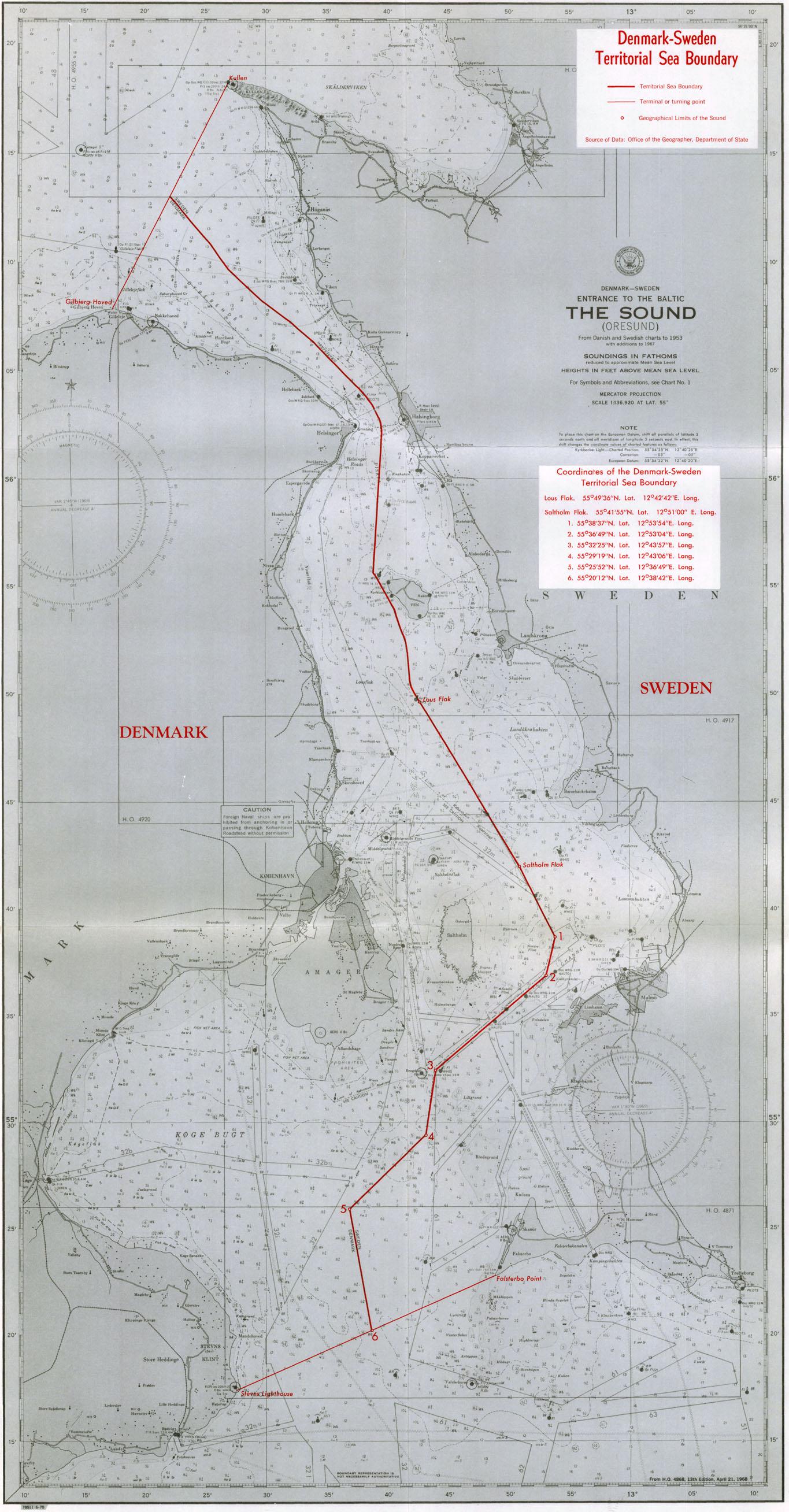 Marine Regions - Sweden map coordinates
