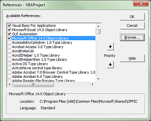Office 2010 Vba Not Installed